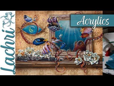 aquashella-surreal-octopus---acrylic-painting-tips---lachri