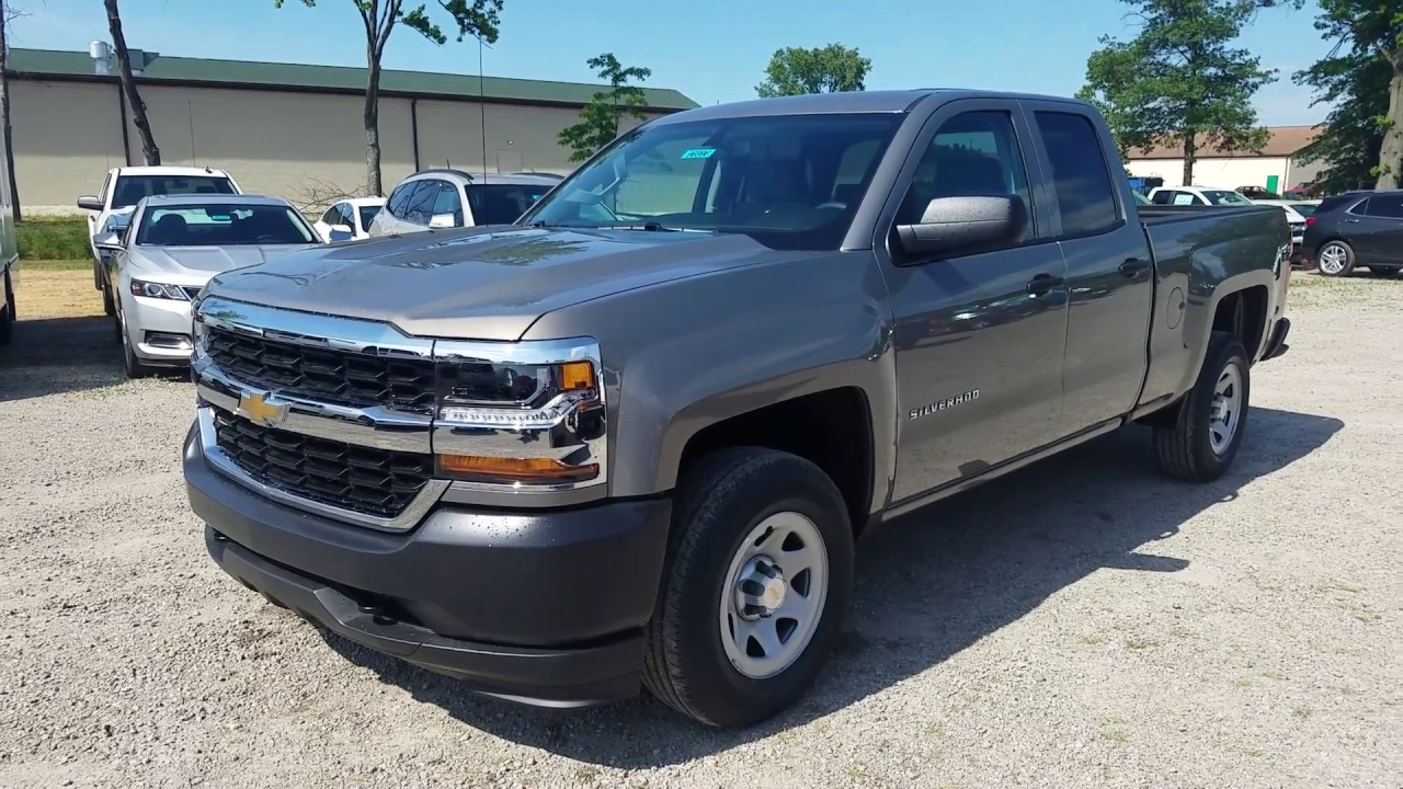 2017 Chevy Silverado 1500 Work Truck Double Cab Pepperdust Metallic Intro