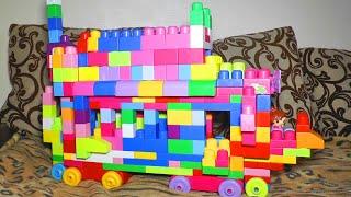 Конструктор Мега Блокс. Собираем большую машину для Алисы. Mega Bloks First Builders