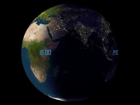 Daily air traffic around the world