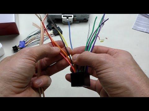 Как подключить магнитолу, силовые и акустические кабели, соединение кабеля скрутка