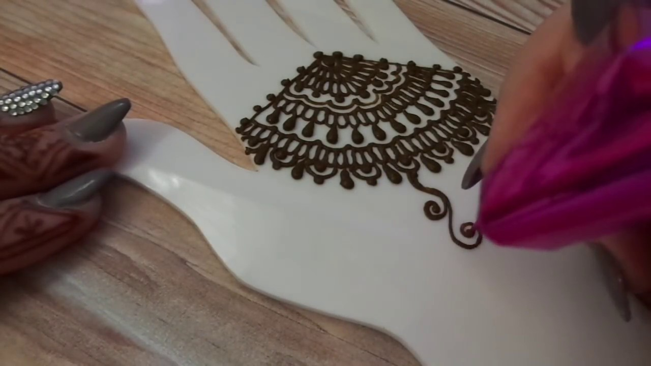 Simple Indian Henna Design For Beginners Free Hand Mehndi Youtube