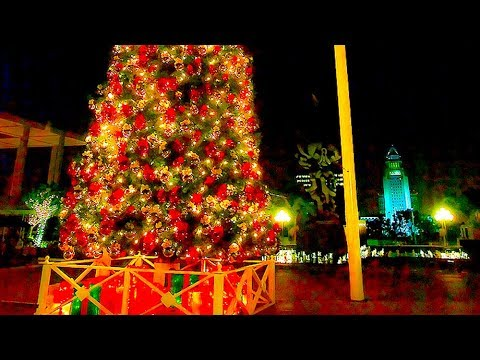Celebrating Grand Park Christmas Tree Lighting Ceremony, Downtown Los Angeles