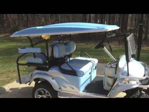 Adjustable Height Golf Cart Roof Reg - YouTube on