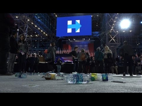 Supporters at Clinton HQ react in disbelief at Trump victory