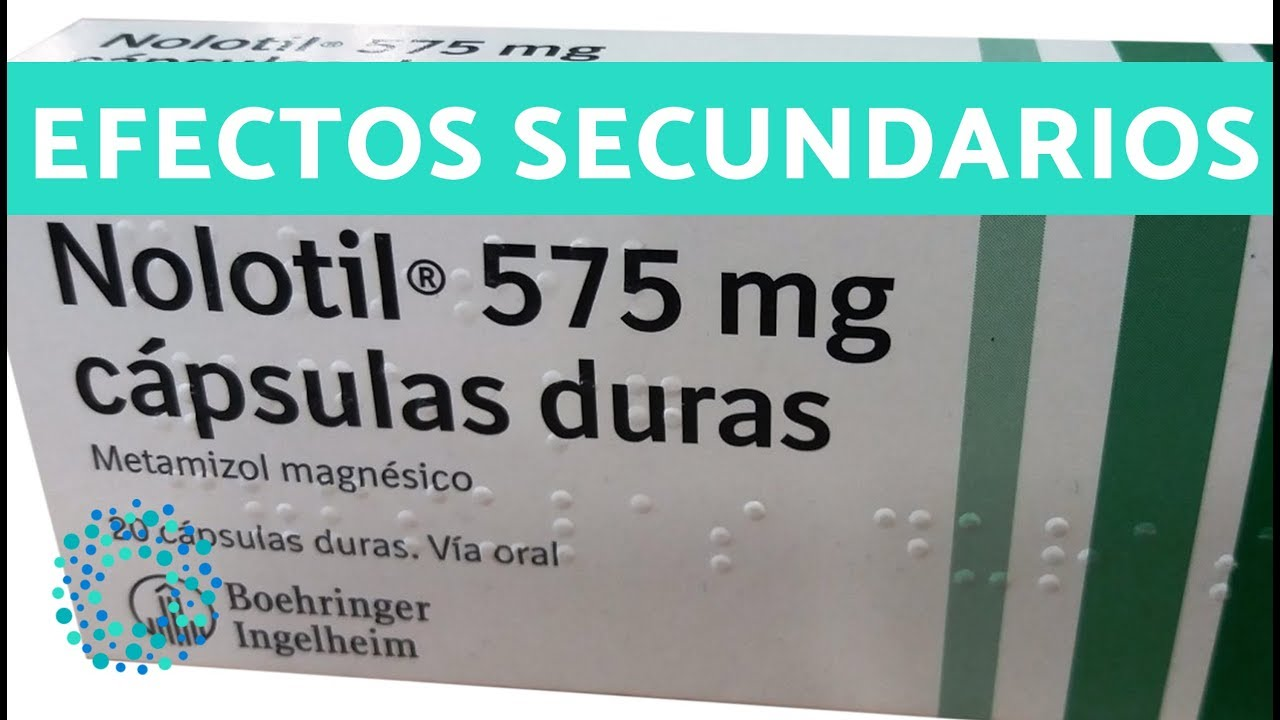 que es nolotil 575 mg