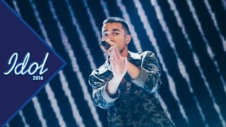 Liam Cacatian Thomassen sjunger Cool me down i Idol 2016 - Idol Sverige (TV4)