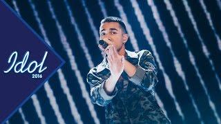 Liam Cacatian Thomassen sjunger Cool me down i Idol 2016 - Idol Sverige (TV4)