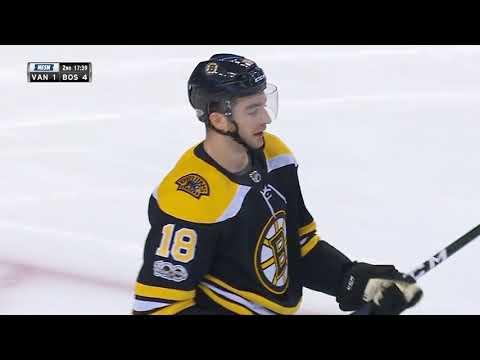 Vancouver Canucks vs Boston Bruins - October 19, 2017 | Game Highlights | NHL 2017/18