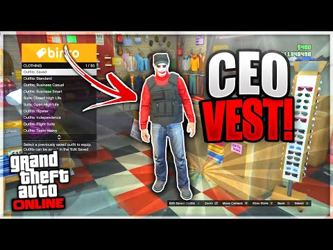 GTA 5 *SOLO* CEO Vest Glitch! Modded Outfits! (GTA 5 Online Clothing Glitches 1.50)