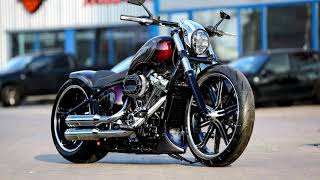 "⭐️ Harley Davidson Softail Custom Breakout ""Purple Greace"" by Thunderbike  - CustomBike Review"