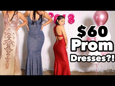 Download Youtube: OMG I TRIED PROM DRESSES UNDER $100!   jasmeannnn