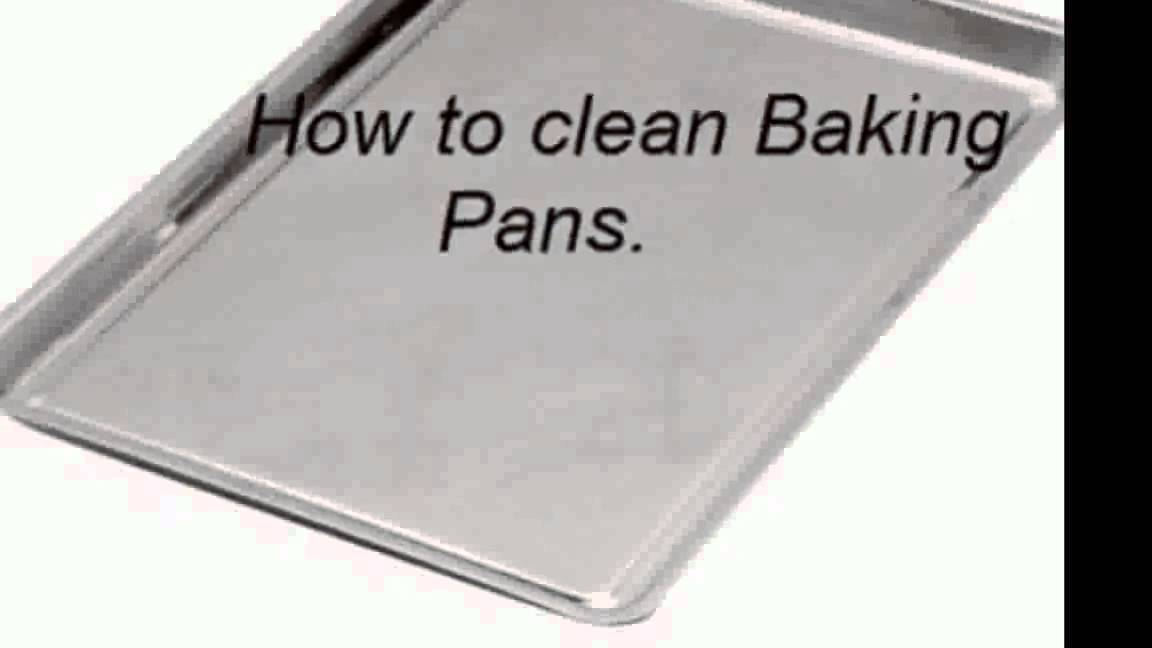 how to clean grime of baking pans