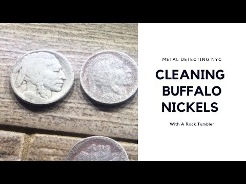 Cleaning Coins: Buffalo Nickel and V Nickel (Metal Detecting NYC)