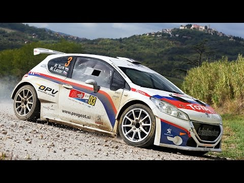 Rok Turk - Martina Lazar (Peugeot 208 T16) : 42. Croatia rally 2015 - best onboard moments