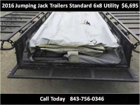 2016 Jumping Jack Trailers Standard 6x8 Utility New Cars Lor  sc 1 st  YouTube & 2016 Jumping Jack Trailers Standard 6x8 Utility New Cars Lor - YouTube