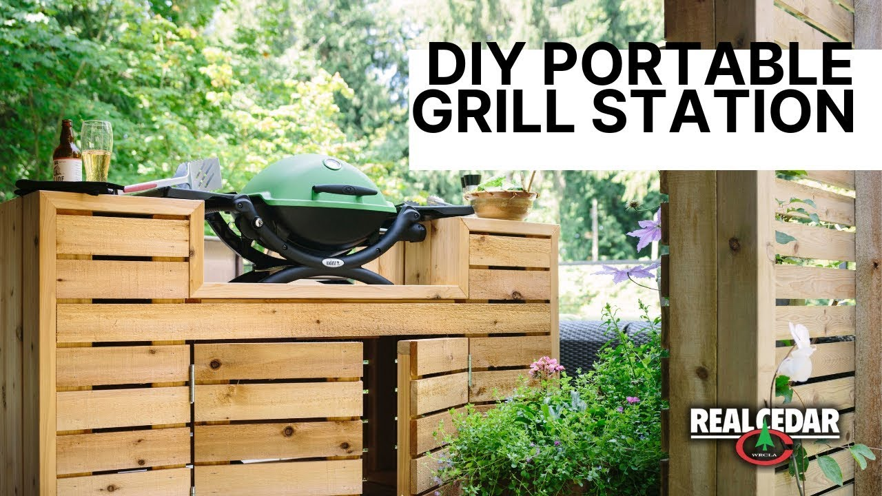 Diy Portable Outdoor Grill Station And