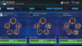 SWGOH CLS Rebels vs Faster Darth Revan