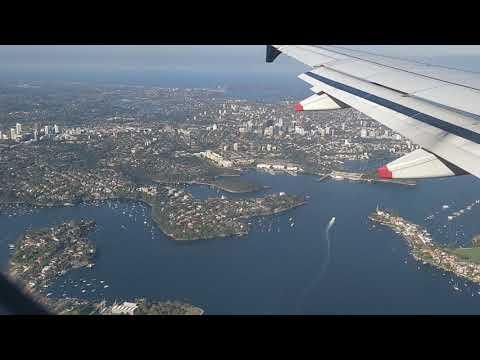 Landing At Sydney International Airport.