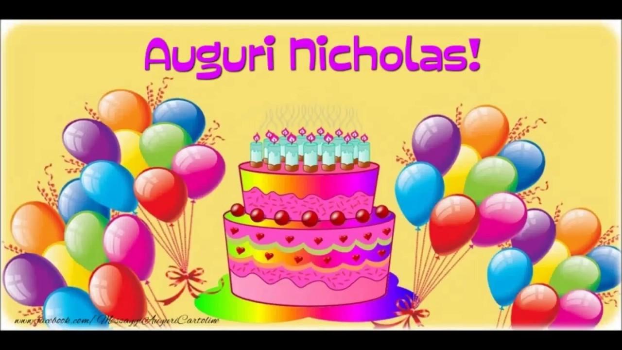 Célèbre Buon Compleanno Nicholas - YouTube BJ71