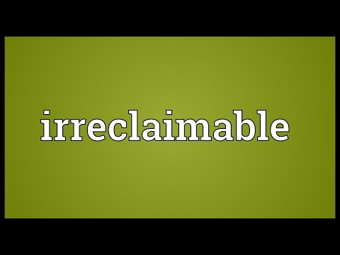 Header of irreclaimable