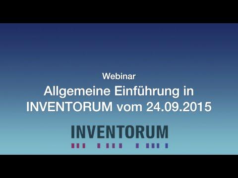Webinar: Allgemeine Einführung in INVENTORUM vom 24.09.2015 POS Kassensystem