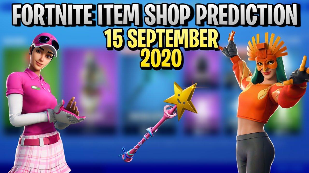 September 15th 2020-Fortnite Item Shop Prediction