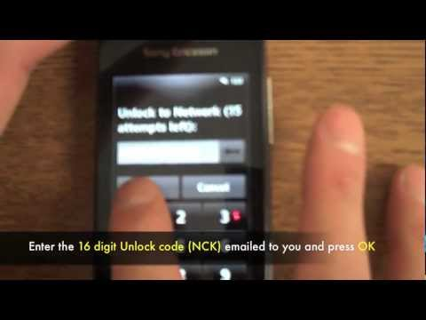 How to Unlock Sony Ericsson Vivaz Pro U8, U8a, U8i by Unlock Code for Rogers, Fido + other networks