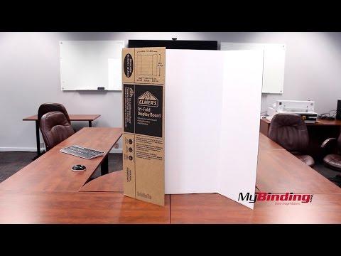 "Elmer's 36"" x 48"" Single Ply Tri-Fold Display Board"