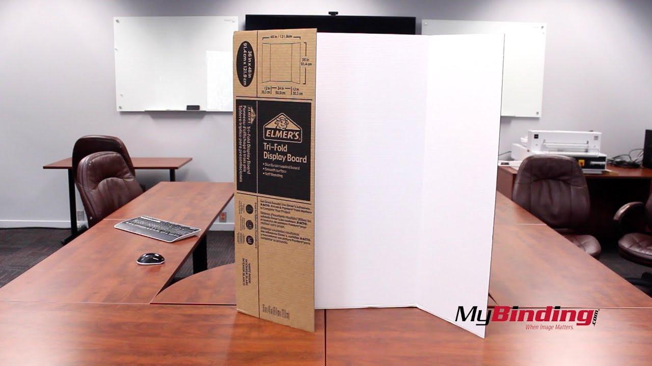elmer s 36 x 48 single ply tri fold display board