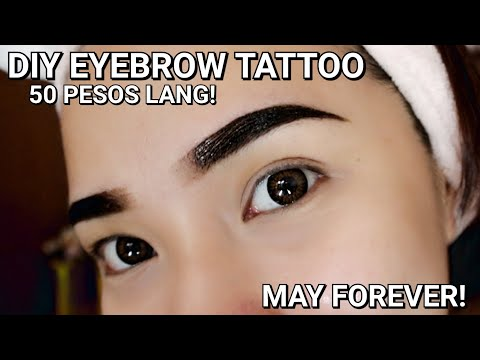 DIY EYEBROW TATTOO FOR ONLY 50 PESOS! MAY FOREVER!! | Erika Lim