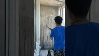 여수 선원동 대주아파트 곰팡이 베란다 제거하는 작업 과…