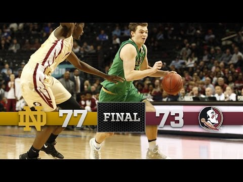 Highlights - Notre Dame Men's Basketball vs. Florida State - ACC Semi-Finals