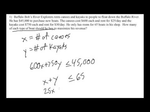 Linear Programming Word Problem Setup Youtube