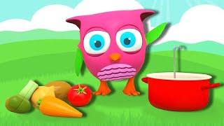 Совенок Хоп Хоп - Овощи - Развивающие мультики для малышей