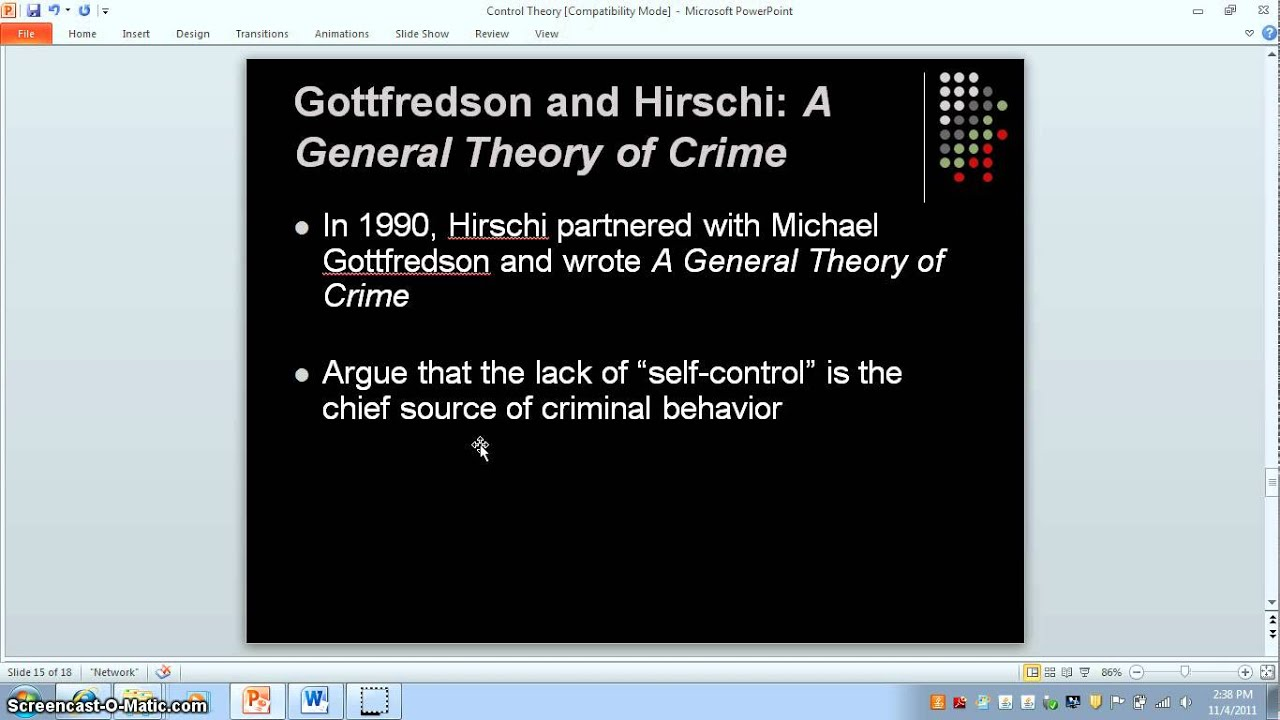 control theory corporate crime Crime control theory - download as powerpoint presentation (ppt), pdf file   2005 by pearson education rejects means (property/white-collar offenses).