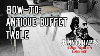 How To: Antique Buffet Table