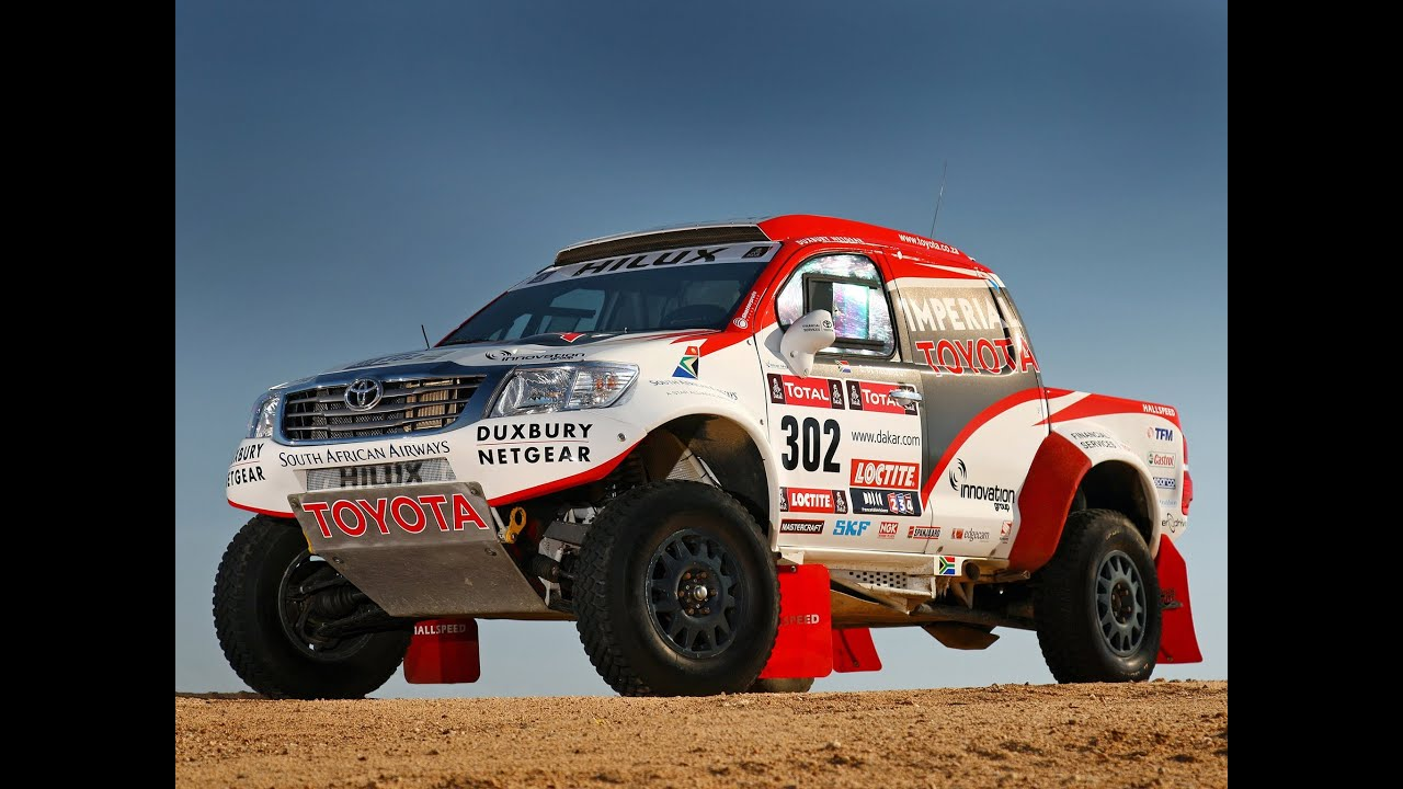 Toyota Hilux DAKAR - Toyota Hilux Rally Car - YouTube