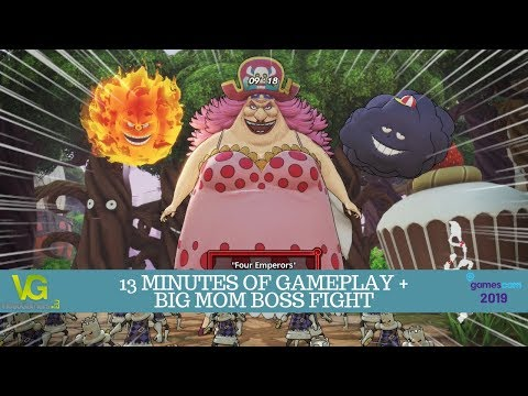 One Piece: Pirate Warriors 4 - 13 minutes of gameplay and Big Mom boss fight | Gamescom 2019