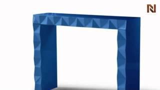 Eva - Blue Console Table Vgdvls207-blu