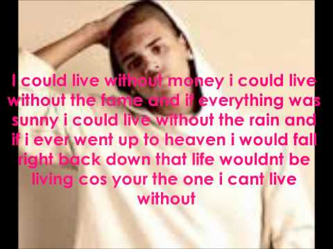 Chris Brown Without You Lyrics