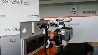 TECNALIA HIRO Performing Aeronautics Assembly - Deburring and riveting - Showcased at BIEMH2014