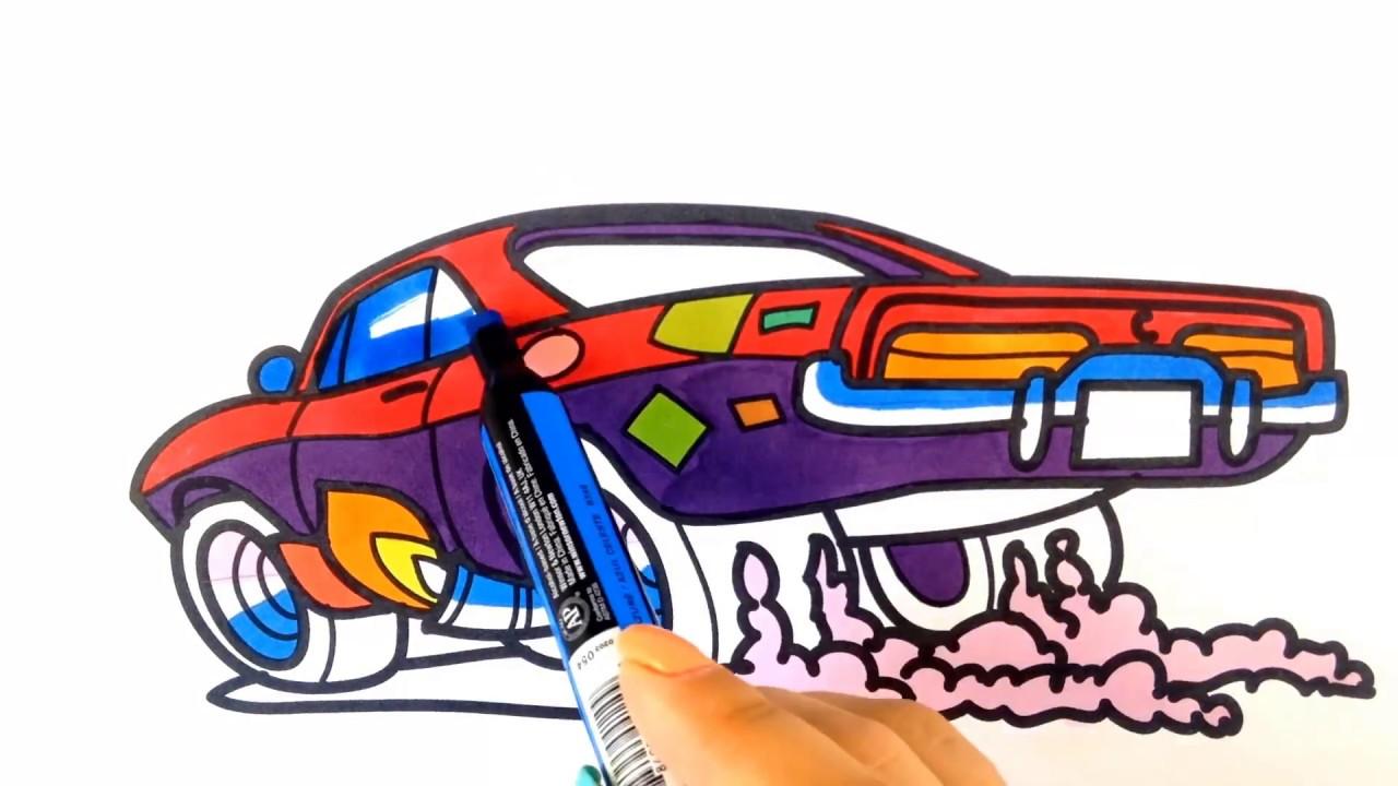How To Draw A Car Cartoon Muscle Car Cartoon Hot Wheels Style