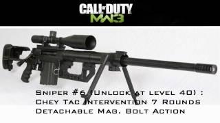 Sniper Intervention on MW3 !!! multiplayer - modern warfare 3 call of duty gameplay