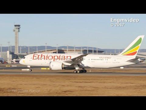 Ethiopian B788 at Oslo Airport Gardermoen Norway
