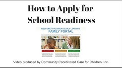 School Readiness application on OEL Family Portal