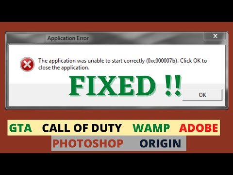 The Application Was Unable To Start Correctly 0xc000007b