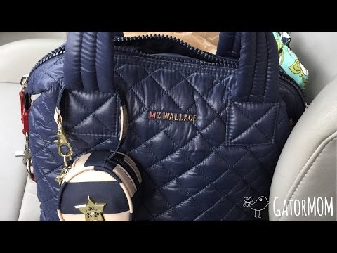 MZ Wallace Small Sutton in navy packing video/review