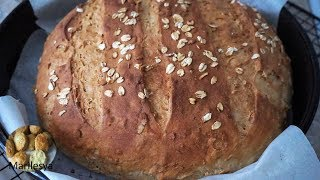 ХЛЕБ С ОВСЯНЫМИ ХЛОПЬЯМИ/Buttermilk Oatmeal bread