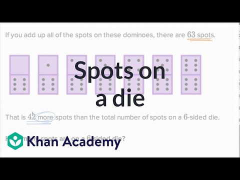 Spots On A Die | Addition And Subtraction Within 100 | Early Math | Khan Academy